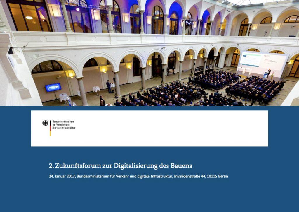 2. Zukunftsforum zur Digitalisierung des Bauens