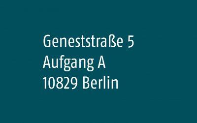 Neue Adresse in unmittelbarer Nähe vom Berliner Südkreuz