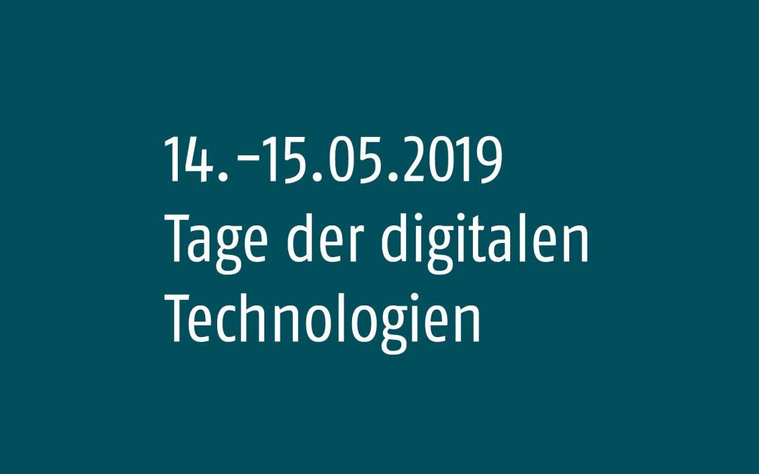 BIMSWARM und DigitalTWIN am 14.-15.05.2019 bei den Tagen der digitalen Technologien