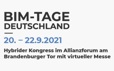 Partnerschaft mit BIM-TAGE Deutschland 2021