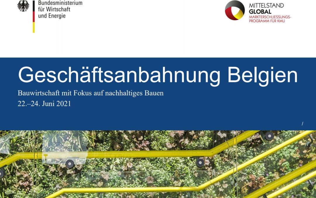 """Geschäftsanbahnungsreise """"Nachhaltiges Bauen in Belgien"""""""