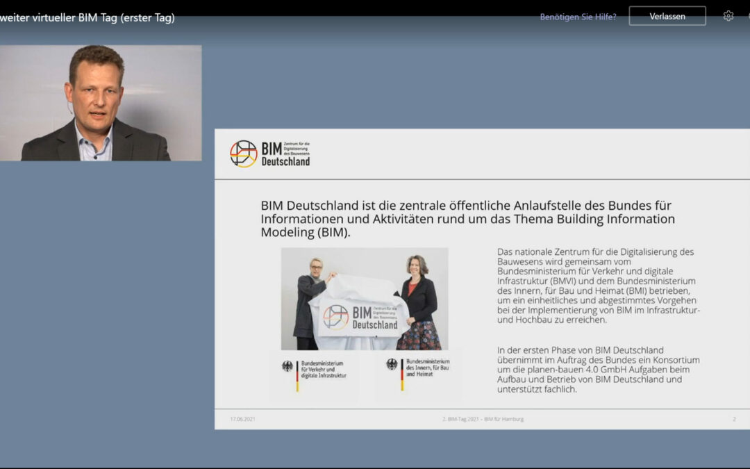 """Dr. Jan Tulke beim """"2. BIM-Tag – BIM für Hamburg"""""""